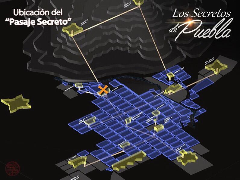Mapa de los Secretos de Puebla
